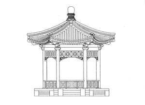 北京古建宏正装饰有限公司 六角亭